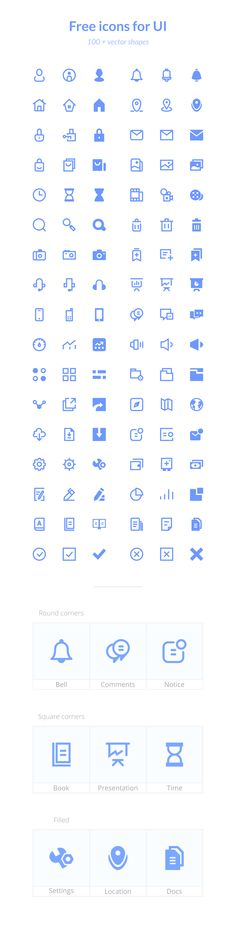 Icons for UI (Freebie) | TheFreebieBay.com