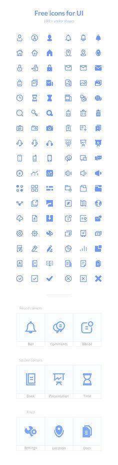 Icons for UI (Freebie) | TheFreebieBay.com
