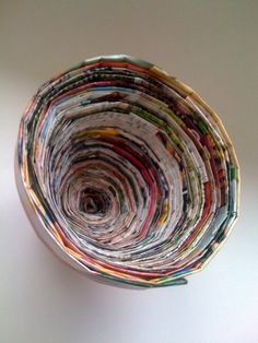 I saw this Recycled Magazine Coil Bowl  on one of your blogs and have been wanting to try it.    I think it will tie in beautifully with our...