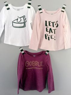 there is still time to make super cute diy thanksgiving graphic t's for your littles!