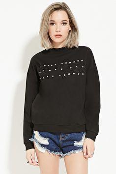 Common Sense Graphic Sweatshirt - Sweatshirts + Hoodies - 2000185645 - Forever 21 UK