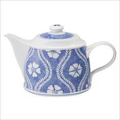 Farmhouse Touch Blue Flowers Teapot in Blue Villeroy & Boch