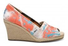 Hmmm...I'm kinda liking these wedges by TOMS.  Might have to consider for spring!