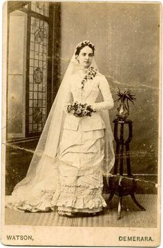 Emma in her wedding gown, 1881