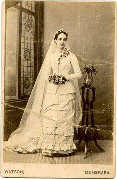 Emma in her wedding gown, 1881