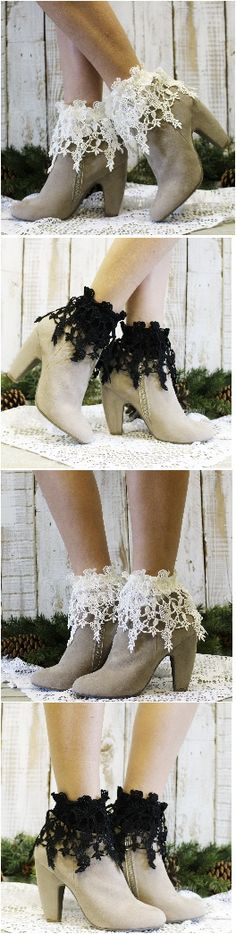 Lace obsessed? Here is your lace sock. Perfect with so many shoe and boot styles. Free shipping at Catherine Cole studio