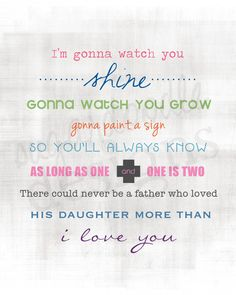 Father and Daughter Poem. Daddy Daughter Artwork. Simon and Garfunkel. by SugardoodleDesigns, $22.00