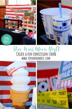 How to Set-Up a Star Wars Movie Party Concession Stand #starwars #movieparty #movienight #diyparty #party