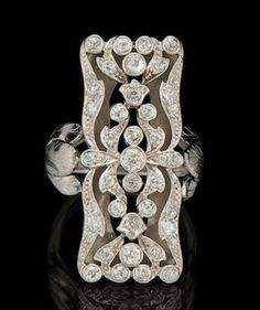 This Art Deco Ring is almost identical to the one engagement ring Shelly and I looked at and considered in Denver Colorado