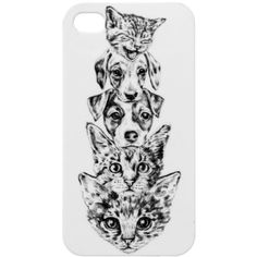 Monki iPhone 4/4S case animal ($4.80) ❤ liked on Polyvore featuring accessories, tech accessories, phone case, case, coque, iphone case, print perfection, pattern iphone case, iphone cases and monki
