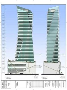 Figueroa Tower, Los Angeles, California by Studio Daniel Libeskind :: 43 floors
