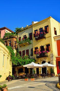 Balcony Courtyard, Isle of Crete, Greece photo via crete