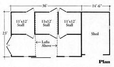 3 Stall Horse Barn | Maston Homes