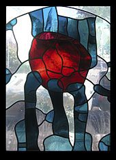 Peter Mollica was a central figure, perhaps the earliest, of a generation of West Coast stained glass artists who emerged in the late 1960s and early '70s.