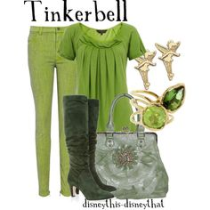 Tinkerbell, created by disneythis-disneythat on Polyvore