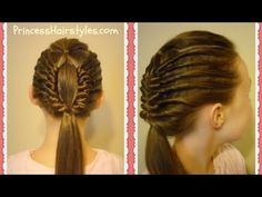 Window Braid Tutorial, Edgy Hairstyles - YouTube