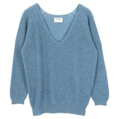 """Caral Grey: This relaxed loose style in ribbed knit of a fine baby alpaca blend. This cropped """"V"""" jumper is perfect to wear all year round. Baby Alpaca, Jumper, Knitting, Sweaters, How To Wear, Style, Fashion, Swag, Moda"""
