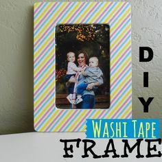 Washi Tape Picture Frame; for more inspiration and washi projects visit thewashiblog.com | #washi #washitape