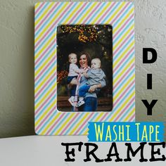 Washi Tape Picture Frame; for more inspiration and washi projects visit thewashiblog.com | #washi #washitape