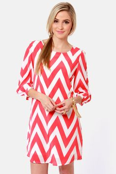 Lulu's- Pack Your Zigzags Chevron Print Dress