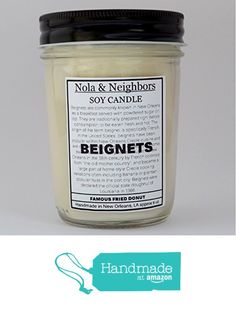 Fresh Bakery candle, 6 oz soy candle, Sweet vanilla scented, Bakery aroma Sugar scent Mason jar soy candle Long 50+ Hour burn time, Beignets, New Orleans gift from NolaAndNeighbors http://www.amazon.com/dp/B0160AJLEE/ref=hnd_sw_r_pi_dp_dzxxwb0P3VF4P #handmadeatamazon