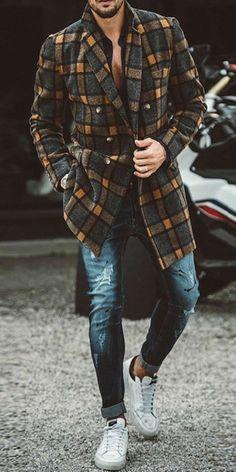 Big Men Fashion, Mens Fashion Wear, Suit Fashion, Look Fashion, Fashion Fall, Bon Look, Mens Style Guide, Men's Coats And Jackets, Mens Clothing Styles