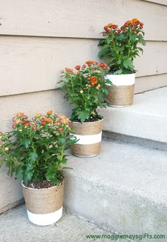 Easy decorative ideas to get some use out of   large yogurt containers.
