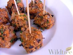 Wildtree's Quinoa Meatballs Recipe Order products at www.mywildtree.com/lausser vegetarian option