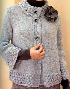 "Diy Crafts - Garter Yoke Vest Pattern (Knit) ""This post was discovered by Jul"", ""Yarn and Patterns for Knitting and Crochet"" Knit Cardigan Pattern, Crochet Cardigan, Knit Crochet, Vest Pattern, Baby Knitting Patterns, Knitting Designs, Crochet Woman, Knit Jacket, Knit Fashion"