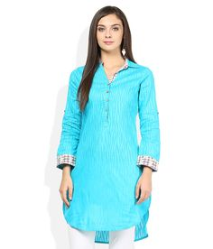 Biba Turquoise Kurti  available at snapdeal for Rs.999