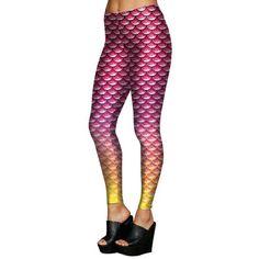 a5eb99391b498 [You're My Secret]Pink Summer Women's leggings Scale Simulation Mermaid  Sexy Pants Digital print colorful Slim Leggin Girl Pants