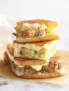 Fried Green Tomatoes Grilled Cheese Sandwich