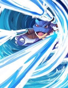 Mega Blastoise by suzuran on DeviantArt Mega Pokemon, Pokemon Pins, Pokemon Fan Art, Pokemon Cards, Water Type Pokemon, Pokemon Starters, Original Pokemon, Pikachu, Illustration Art