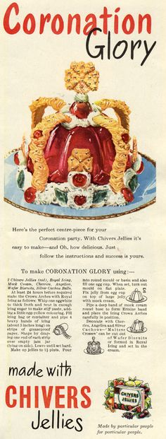 "Coronation Glory Gelatine - begs the question ""what must one do to earn such a one-of-a-kind celebratory award as this""?!!"