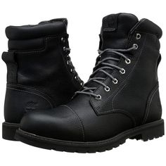 Timberland Chestnut Ridge 6 Insulated Waterproof Boot (Black Full... ($153) ❤ liked on Polyvore featuring men's fashion, men's shoes, men's boots, men's work boots, black, mens black cap toe boots, mens black work boots, mens work boots, mens black waterproof boots and mens water proof boots