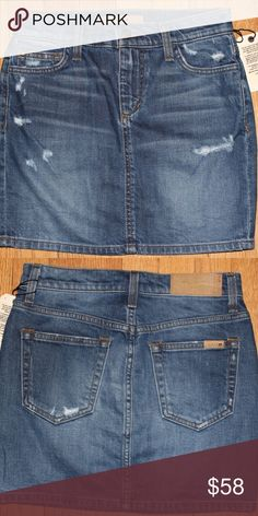 340bec8d5b834d JOE S SLOANE VINTAGE RESERVE DENIM SKIRT JOE S SLOANE VINTAGE RESERVE DENIM  SKIRT 5-POCKET SZ