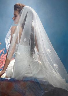 """Disney's Fairy Tale Weddings Collection by Alfred Angelo // PRINCESS ARIEL """"THE LITTLE MERMAID"""" Veil (STYLE #108)"""