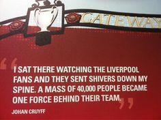 Johan Cruyff on his Anfield experience. #LFC