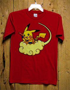 Pikachu Dragonball TShirt  Pokemon TShirt  Funny by GoldenMurup, $16.98