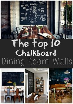 Trend To Love: Dining Room Chalkboard Walls - lizmarieblog.com
