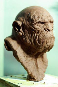 Apeman2 by ~sculptart31 on deviantART