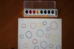 Color Matching Watercolor Activity- Would also be a great Kindergarten activity for learning color words using only blank ink and writing the color words in the middle the circles!