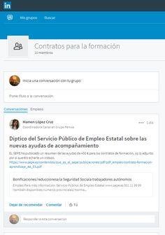 Un nuevo grupo de #linkedin sobre #ContratosdeFormación  #linkedintips Public Service, Group