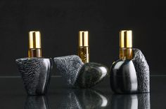 By elevating perfume to Art, NadiaZ unique compositions gather precious indigenous plants and are poured in hand sculpted artpieces. Perfume Making, Make Art, Perfume Bottles, Gifts, Elie Saab, Vip, Beauty, Fragrance, Packaging