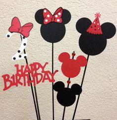 Minnie Mouse Birthday Centerpiece toppers 5 by TheGirlNXTdoor