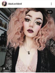 Liquid Lipstick, Makeup Looks, Wigs, Halloween Face Makeup, Make Up, Devil, Glasses, Model, Dreams