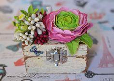 clay flower box ranunculus
