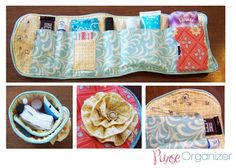 Ladybird Ln: Purse Organizer! Need one if these for make up bag. DIY with a hand towel or washcloth?