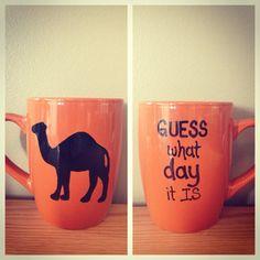 Orange hump day mug by sarahmarie28 on Etsy, $13.00