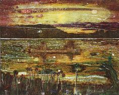 Peter Doig (Scottish, Contemporary, b. 1959): Night Fishing, 1993. Oil on canvas, 79 x 98-1/4 inches (200.7 x 249.6 cm). Private Collection. © Peter Doig. © This artwork may be protected by copyright. It is posted on the site in accordance with fair use principles.